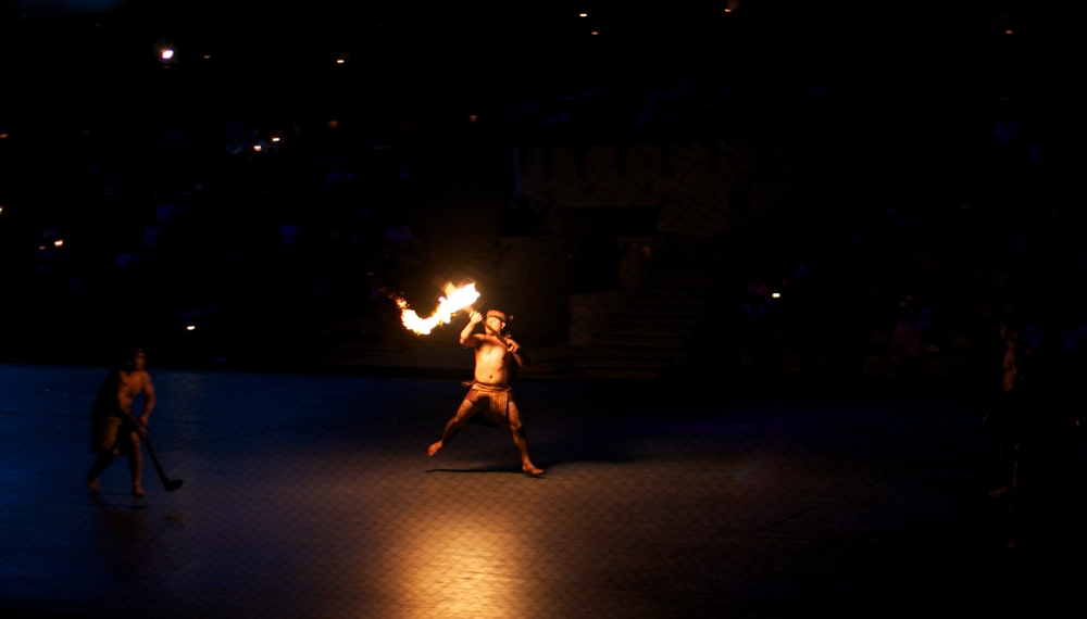 Fire games played at Xcaret in Mexico.