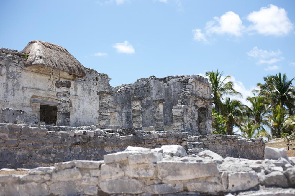 Ruins at Tulum - Mayan walled city.