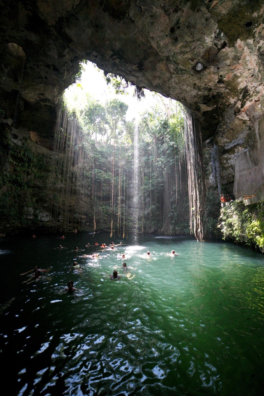 Ik Kil cenote near Chichen Itza - great for swimming!