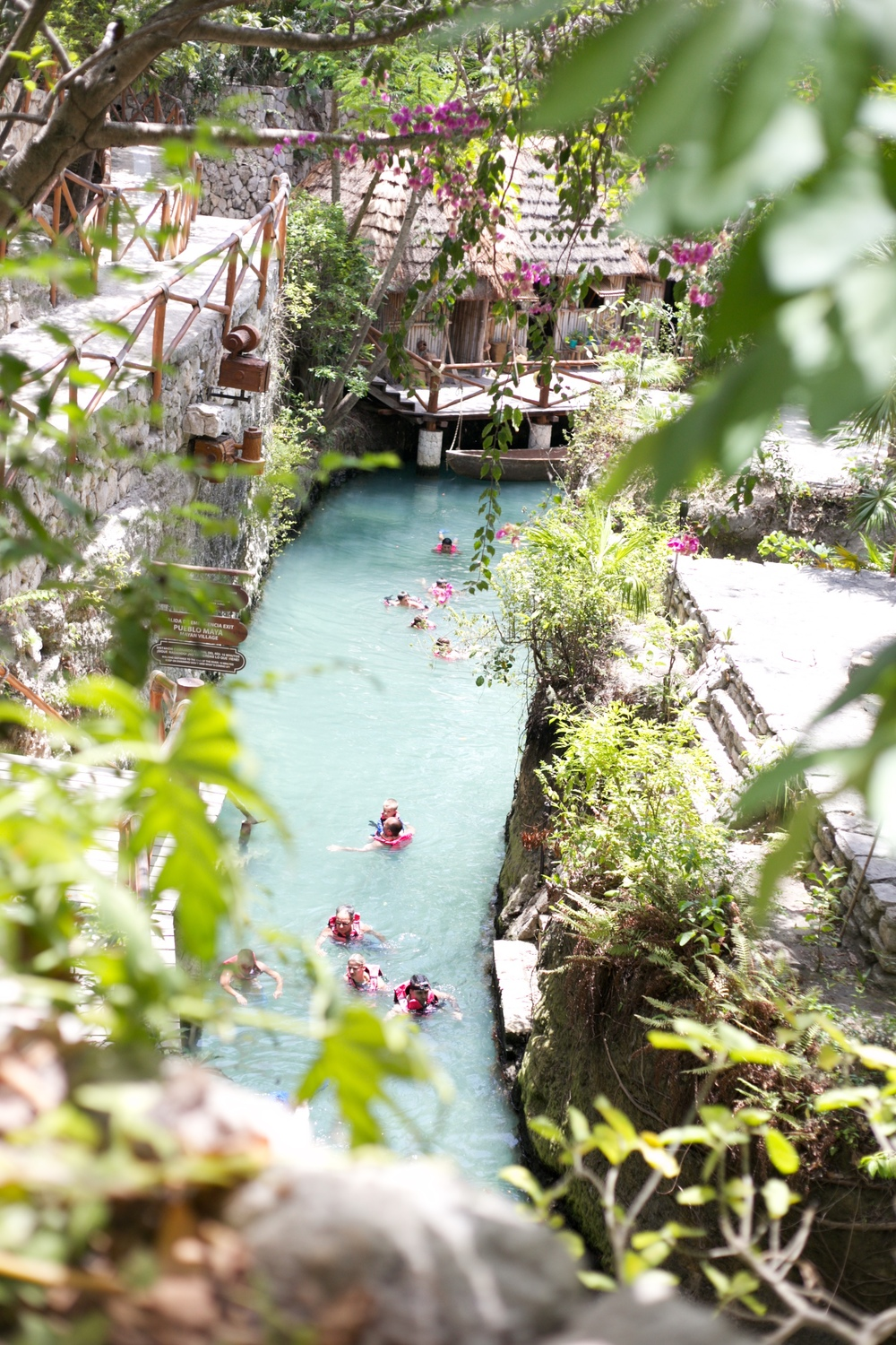 The rivers at Xcaret, in Cancun.