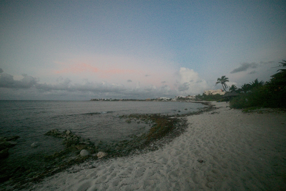 Before sunrise, half moon bay, Akumal dawn.