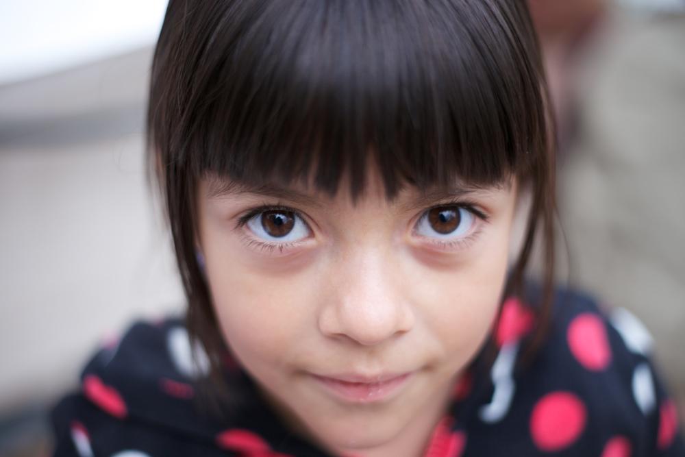 Sofia with her big eyes.
