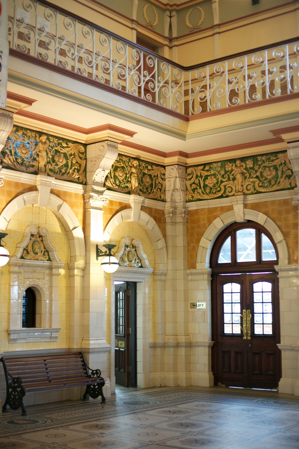 The inside of the Dunedin Railway Station.