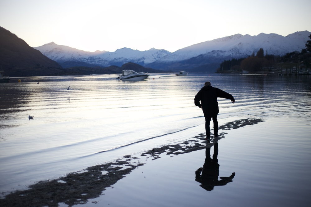 Walking on water - lake wanaka.