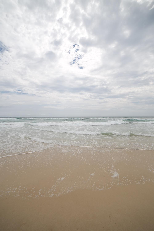 The beautiful beach at surfer's paradise.