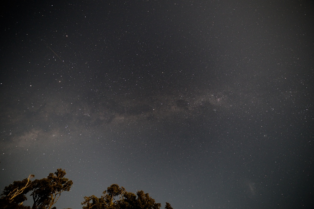 Stars at sunrise on the West Coast of NZ.