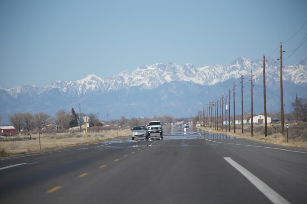 Heat making the road look like water - American road trips.