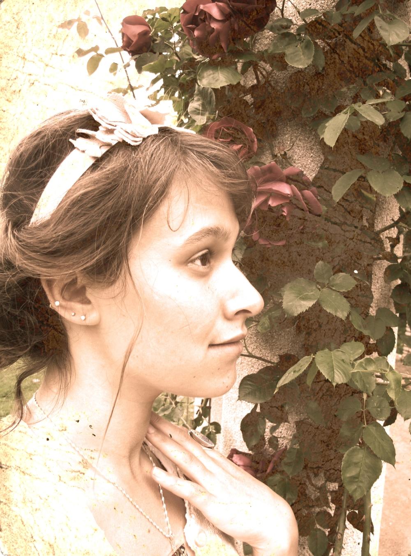 Victorian rose portrait.