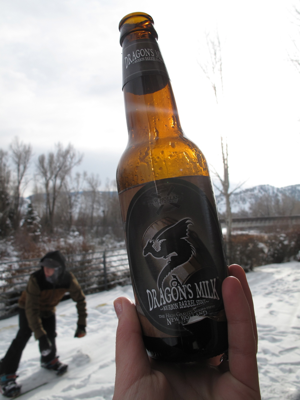 Snowboarding and beer is the perfect combo.