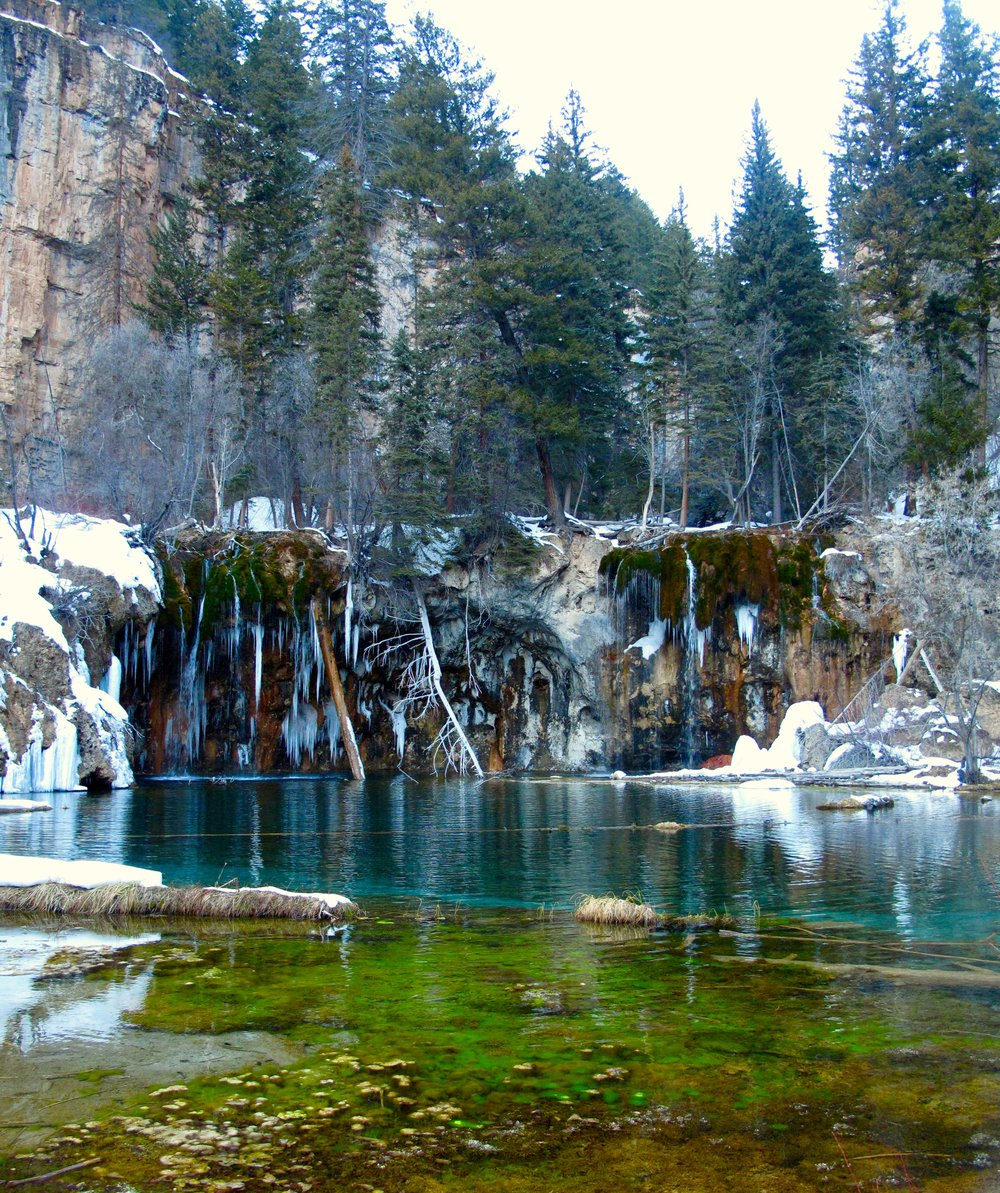 HANGING LAKE IN WINTER