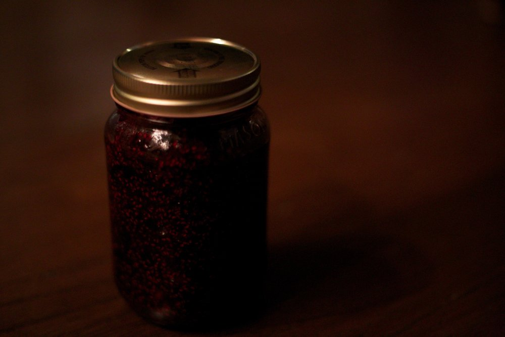 Jam made from wild berries foraged from the mountains of Colorado.