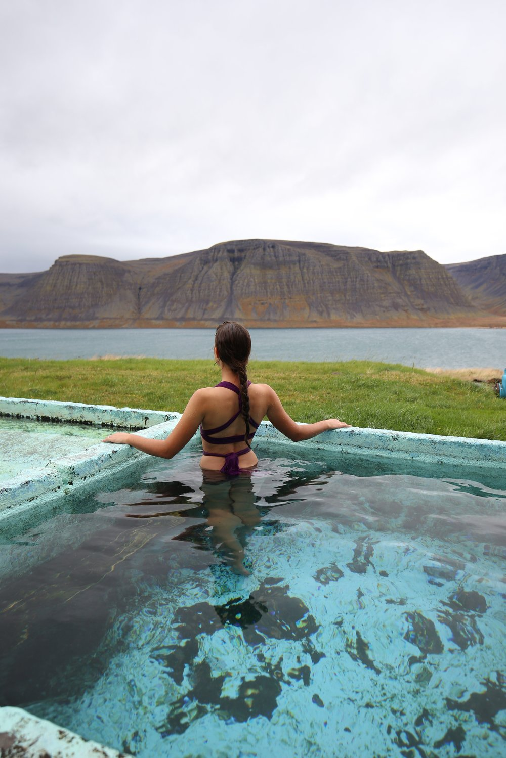 Talknafjordur hidden hot pot Iceland