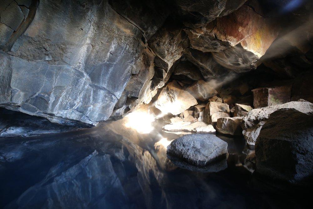 hot pool cave