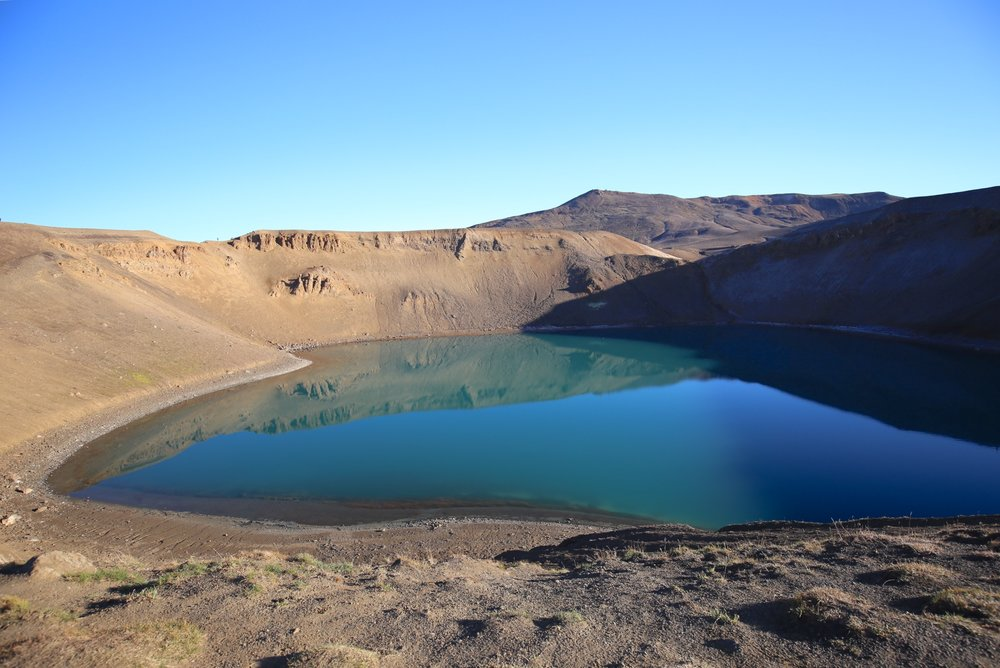 blue crater pool