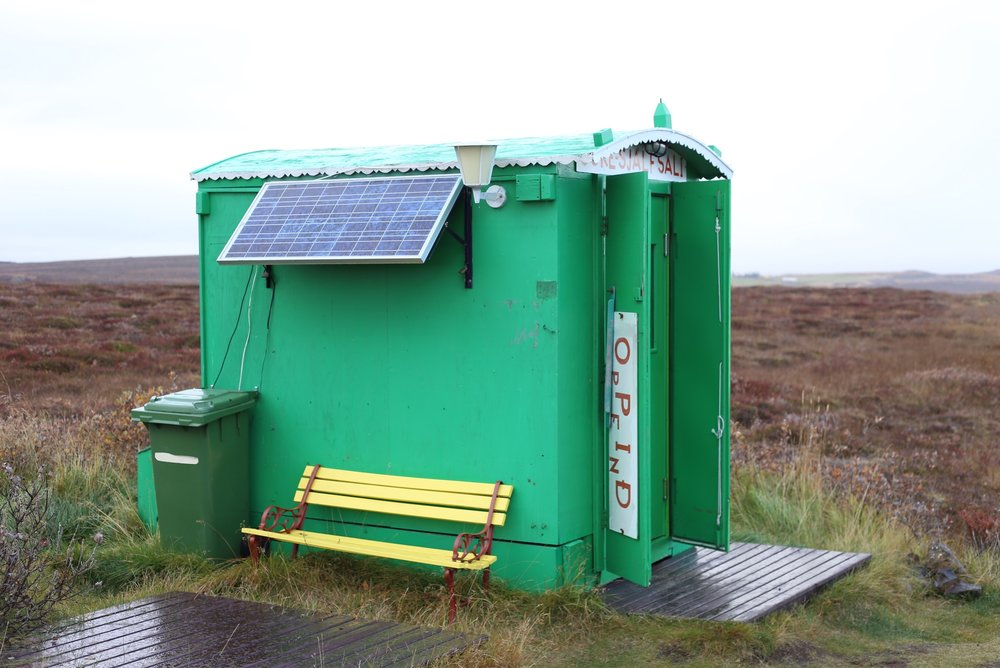 solar power hut