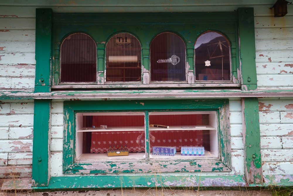 old shop window