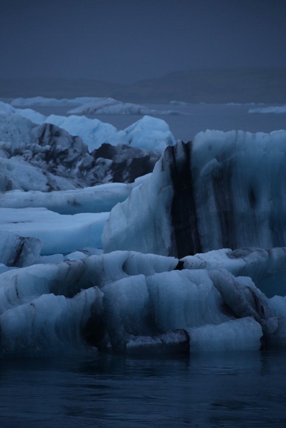volcanic ash in ice