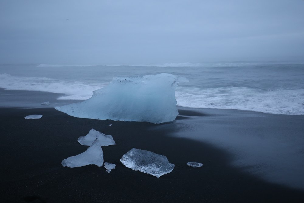 natural ice sculpted by ocean