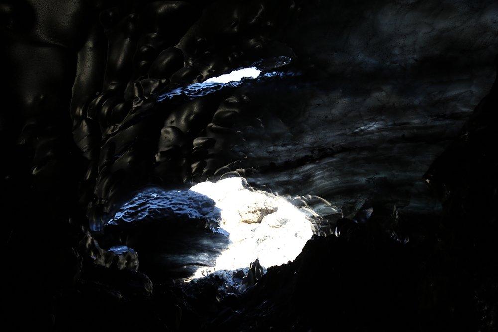black ice cave iceland