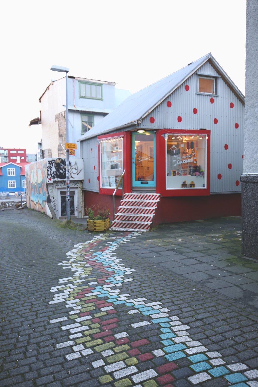 painted brick road