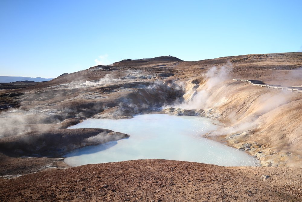 krafla geothermal pool