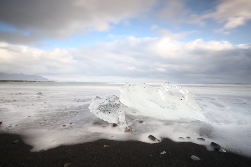 jokulsarlon beach ice