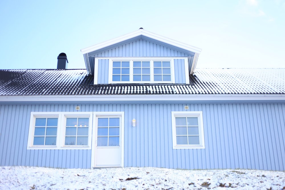 blue house Norway