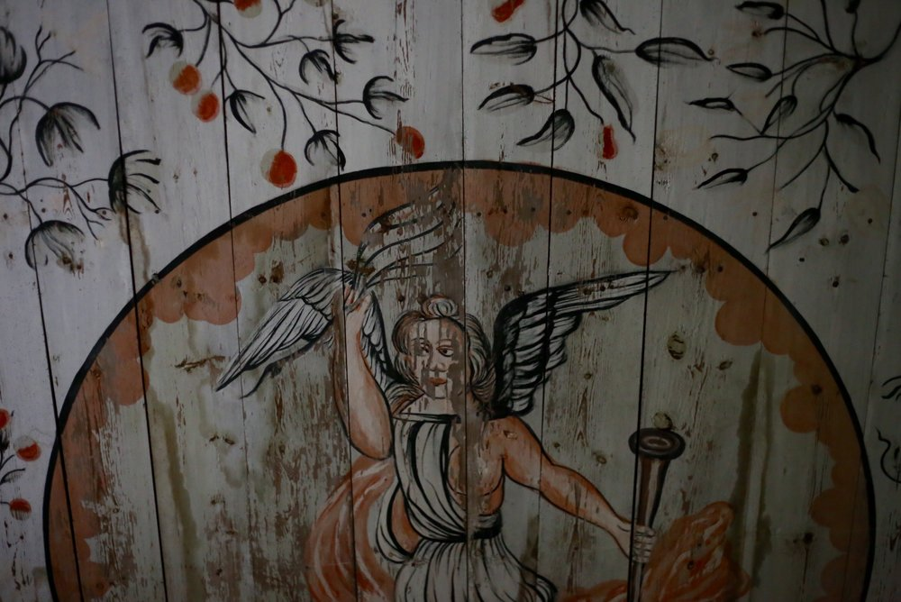 painted cherub norwegian renaissance