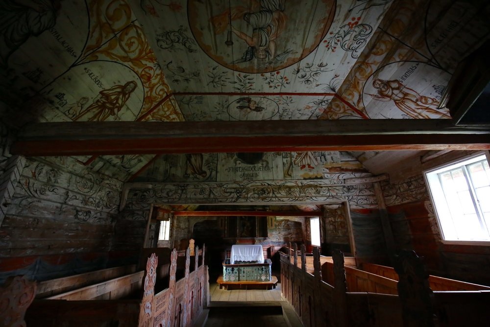 ardal old painted church