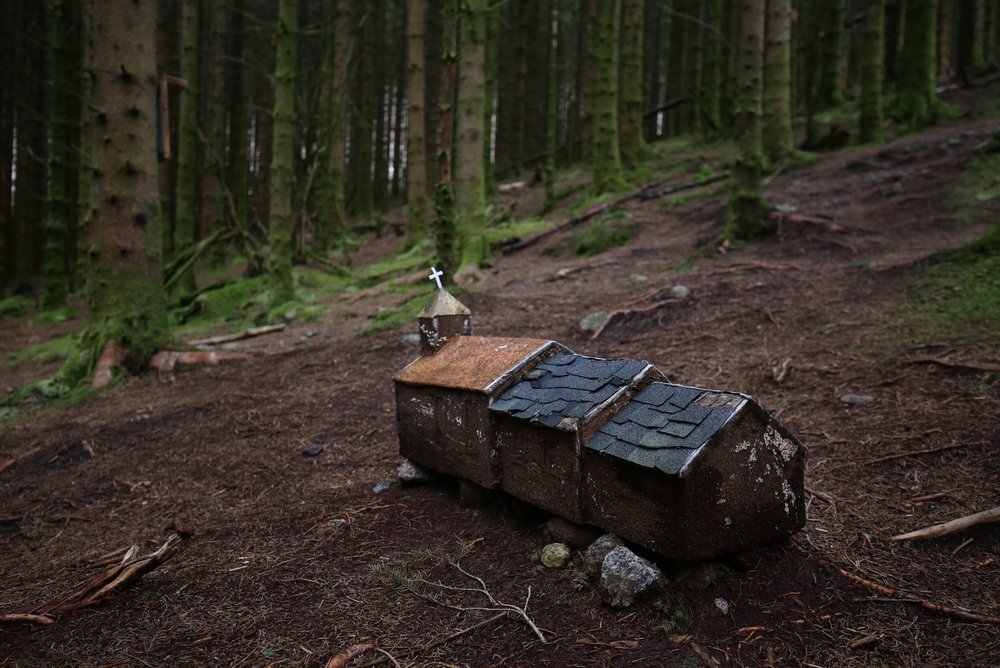 little model church in the woods