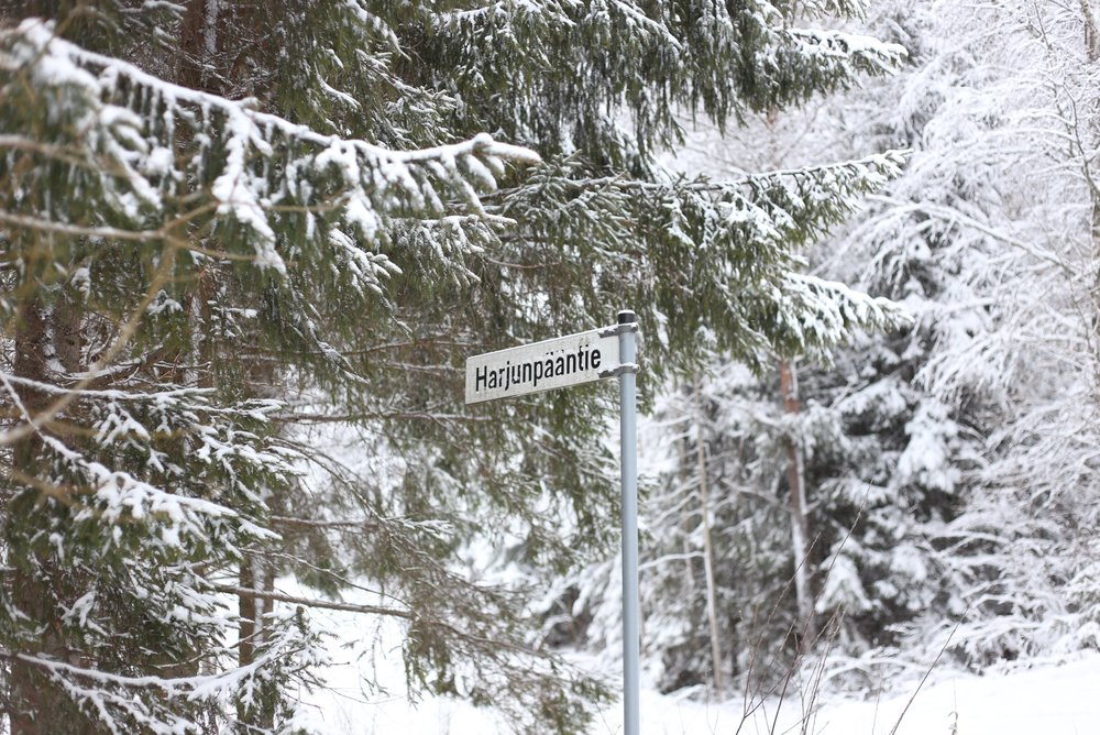 Finnish road sign