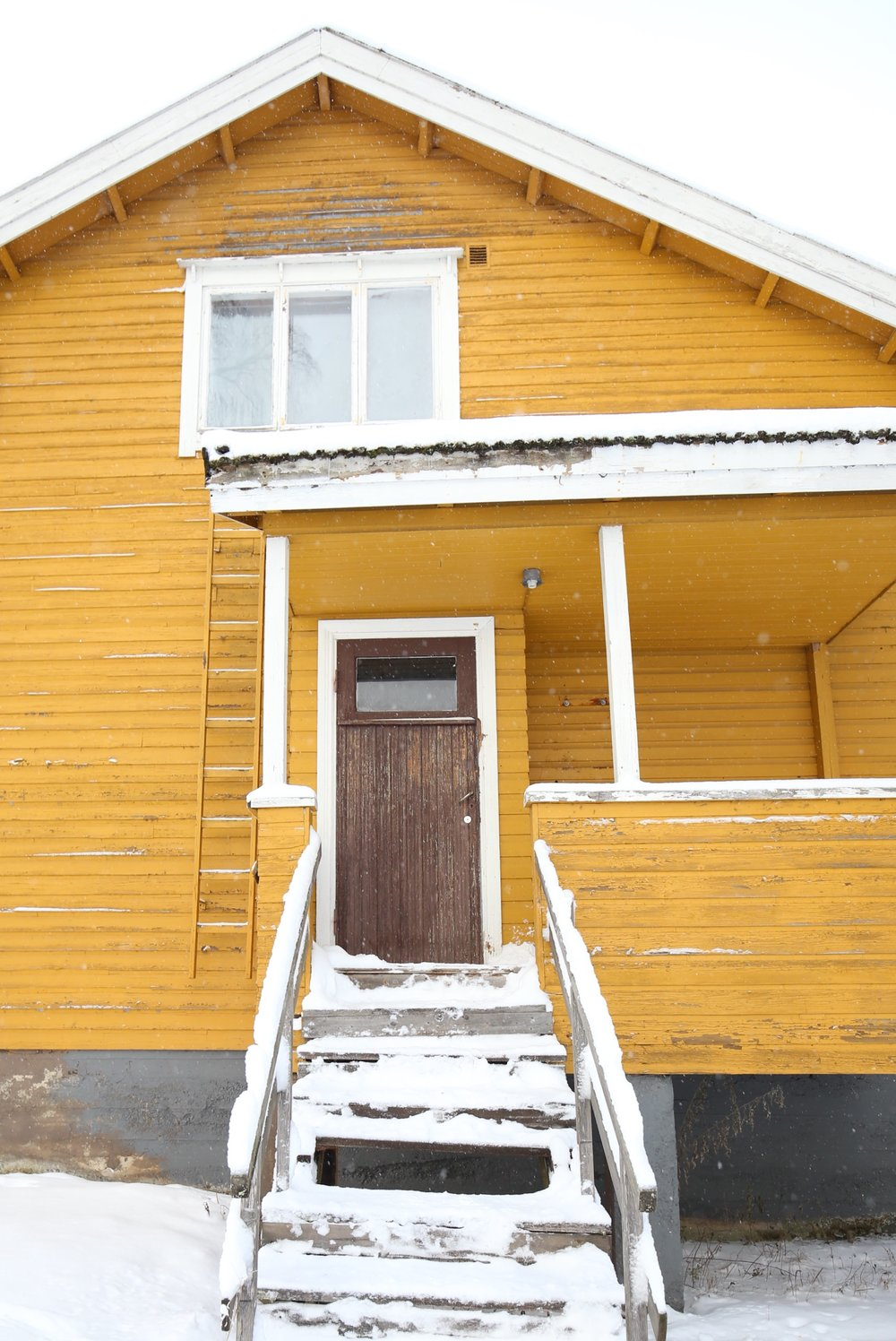 traditional yellow house Finland