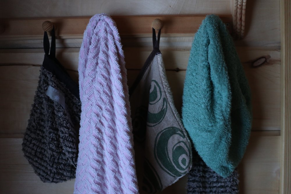 sauna wash cloths