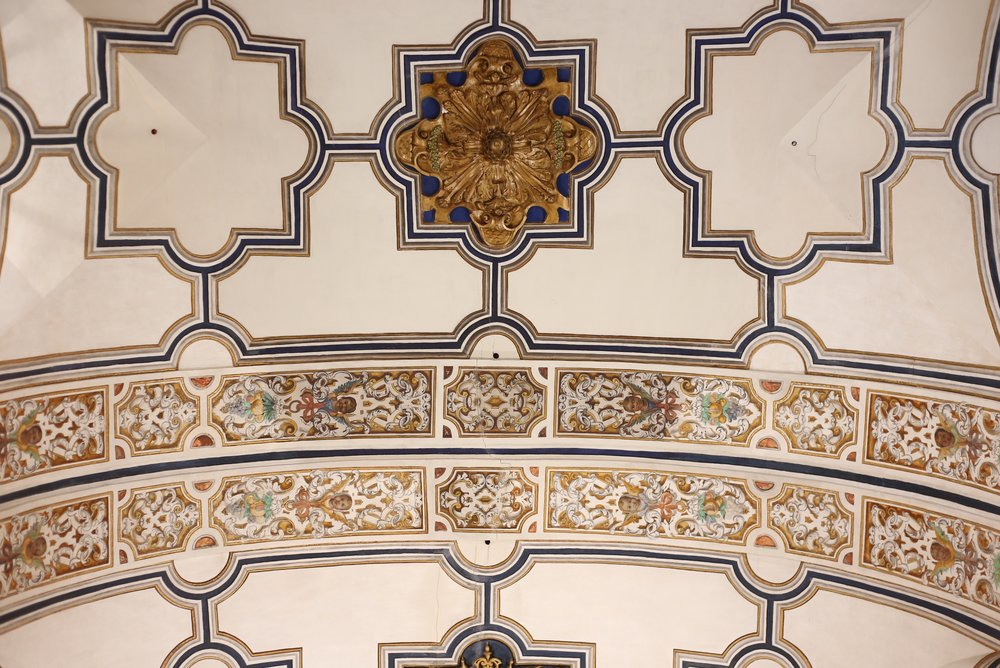 painted Spanish church ceiling