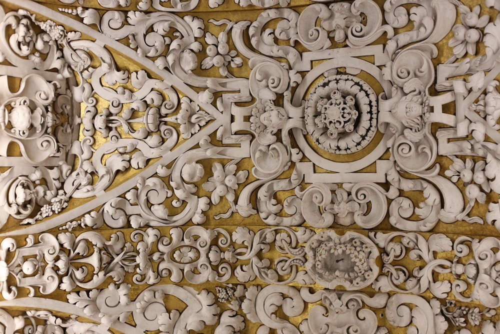 Spanish church plaster ceiling