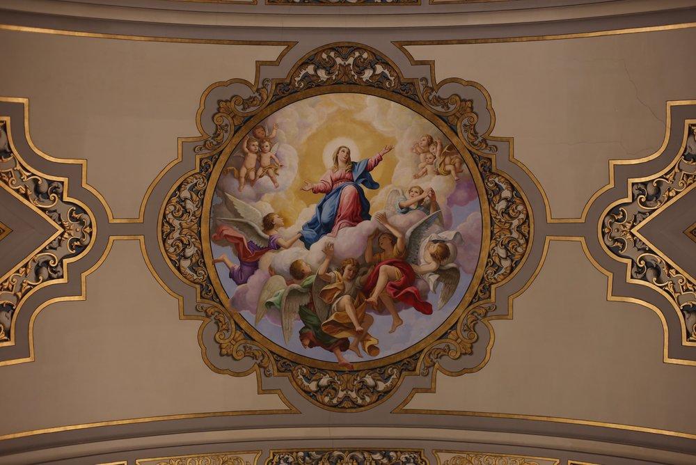 painted ceiling basilica Macarena