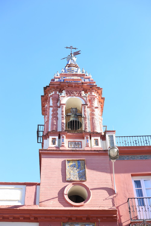 pink Spanish baroque church