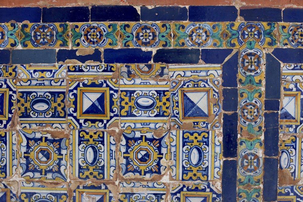 blue Spanish tiles