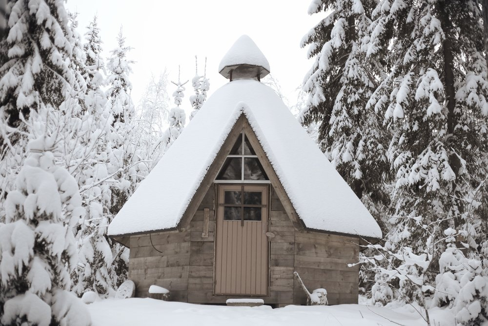 small wooden cabin Finland