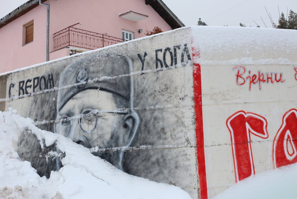 Communist graffiti in Bosnia.