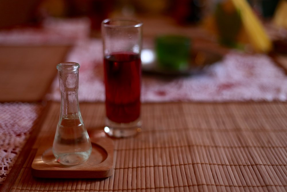 Rakia - the traditional liquor of Bosnia.