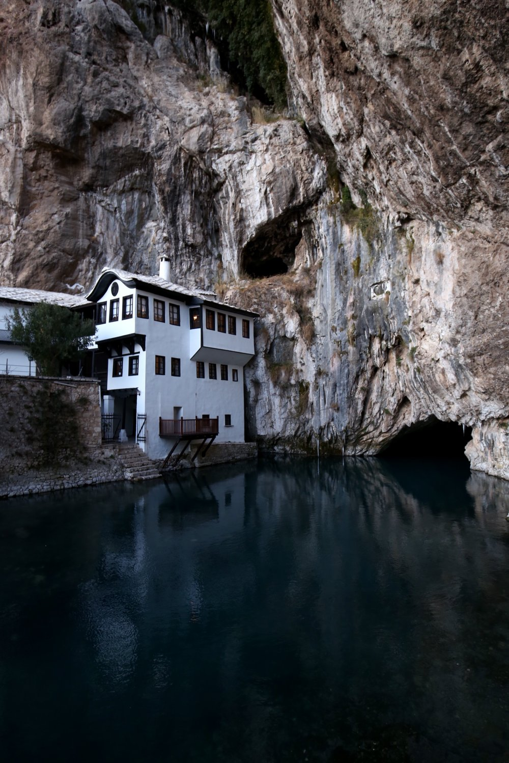 The holy waters of Blagaj spring in Hercegovina.