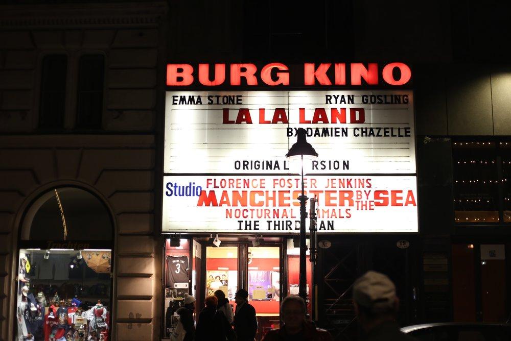 Old cinema in Vienna, showing La La Land.