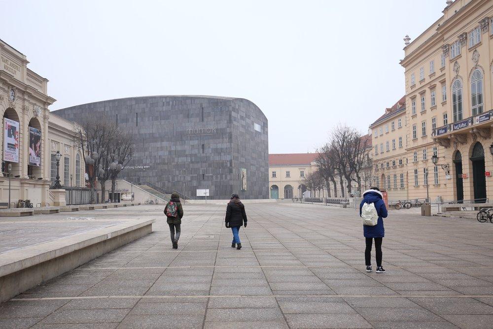 Museum square in Vienna.