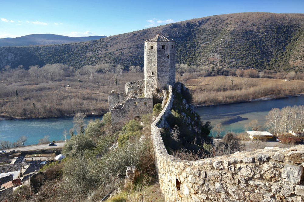 Pocitelj Castle and fortifications in Hercegovina.