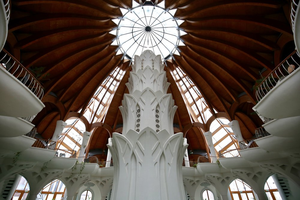 Hagymatikum thermal baths in Hungary - beautiful architectural marvel.