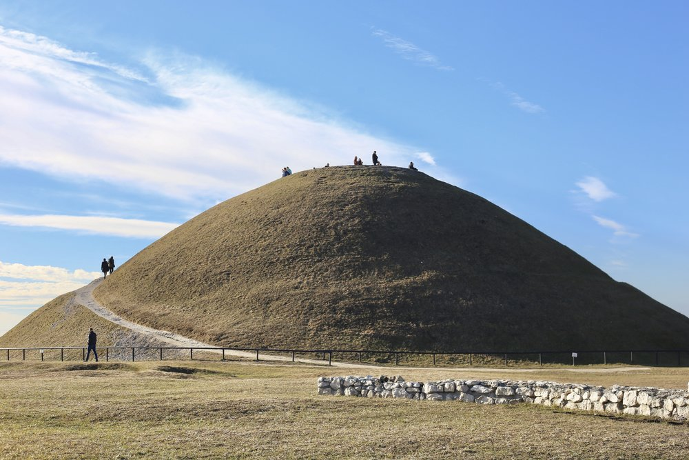 Krakus mound, a prehistoric monument and possible tomb, Krakow.