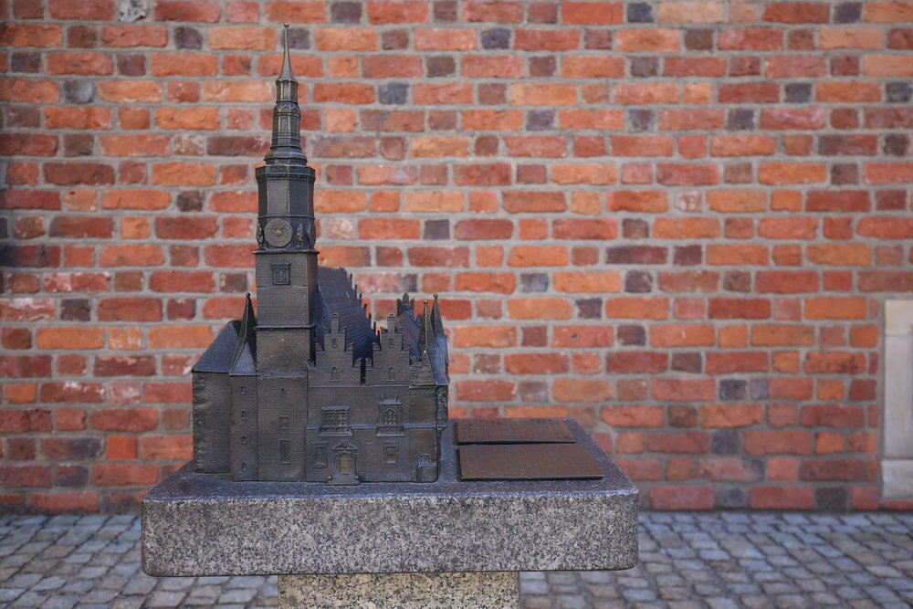 Small model in bronze of the Wroclaw church.