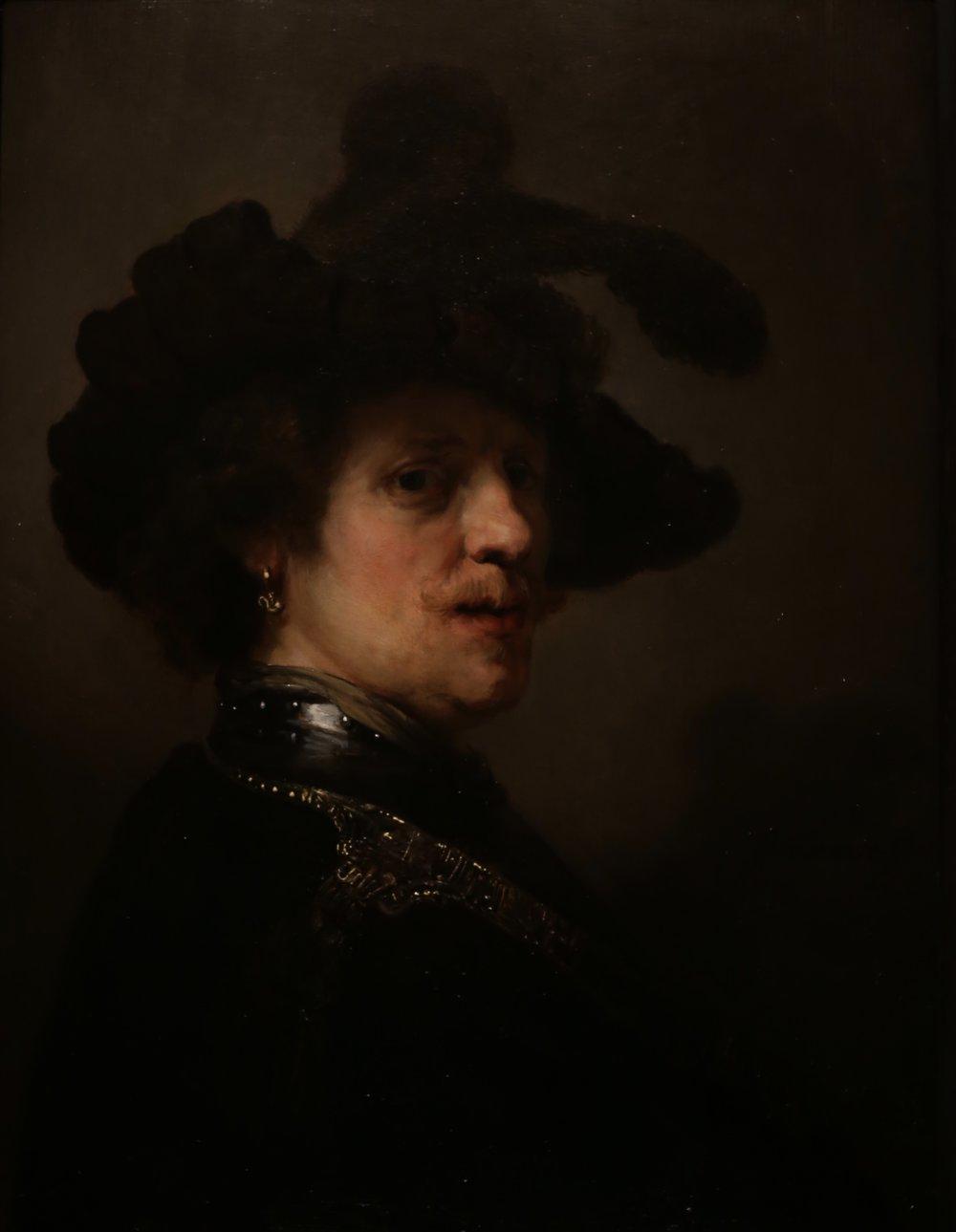 Rembrandt portrait.