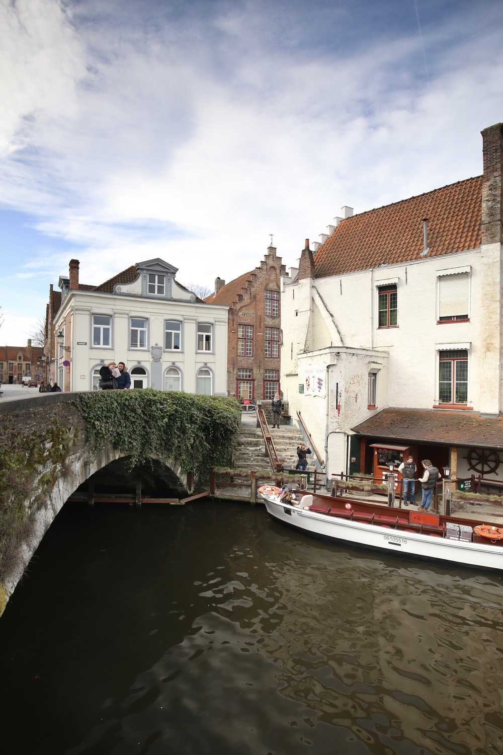 A bridge over a canal in Bruges.